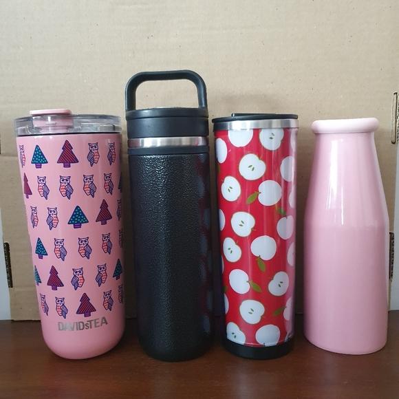 David's tea mugs/travelling mugs collection